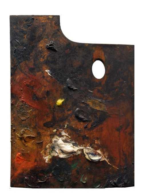 Sennelier und die Palette von Paul Cézanne 860cezannepaletteverticale