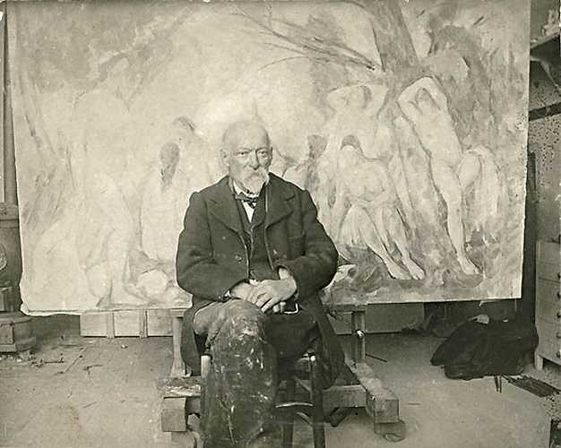 Sennelier und die Palette von Paul Cézanne emilbernardpaulcezanneinhisstudioatleslauves1904