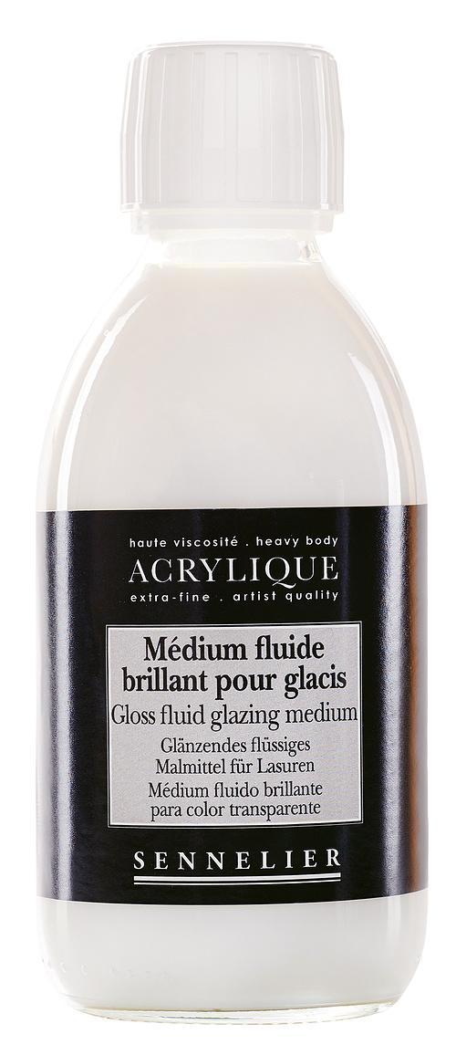 Glänzendes flüssiges Malmittel für Lasuren n125003-250mediumbrillantglacis