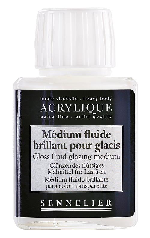 Glänzendes flüssiges Malmittel für Lasuren 0